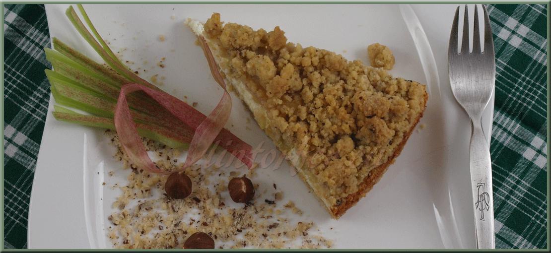 Backen: Rhabarber-Streuselkuchen