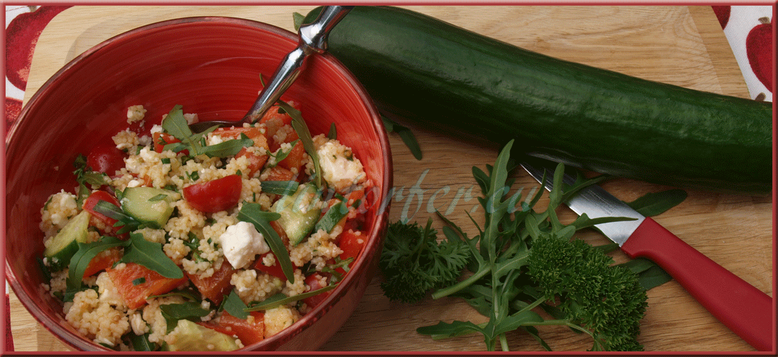 Kochen:  schneller Sommersalat